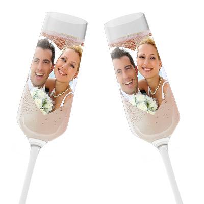 Sektgläser Hochzeit mit eigenem Foto