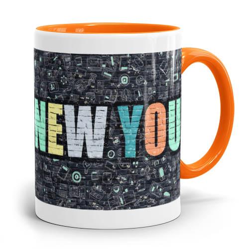 Tasse mit Logo in verschiedenen Farben