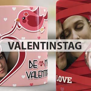 Tassen zum Valentinstag - mit unseren Designvorlagen schnell erstellt