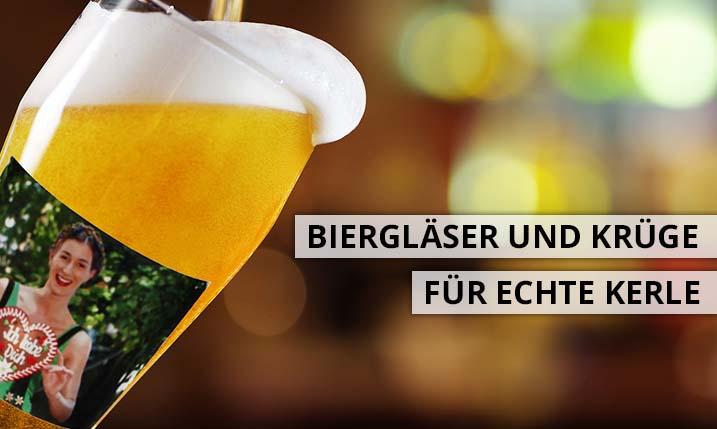 Bierkrüge und Biergläser wie Weizenglas mit Foto gestalten
