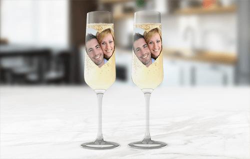 Sektglas mit Deinem Foto und Text