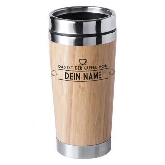 Namensbecher aus Bambus