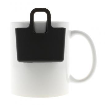 Kekshalter, Teebeutelhalter - verschiedene Farben Cosmos Black