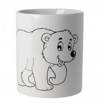 Tasse zum bemalen Motiv Eisbär
