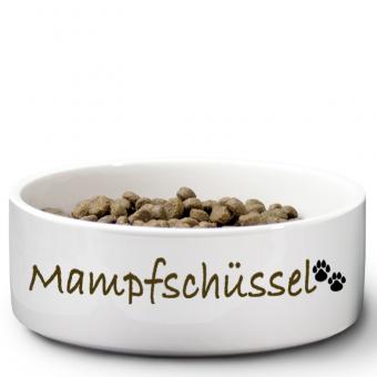 """Hundenapf mit Druck """"Mampfschüssel"""""""