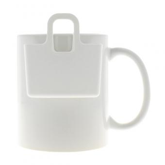 Kekshalter, Teebeutelhalter - verschiedene Farben Cotton White