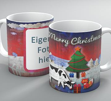 """Weihnachtstasse """"Cow + Fox"""""""