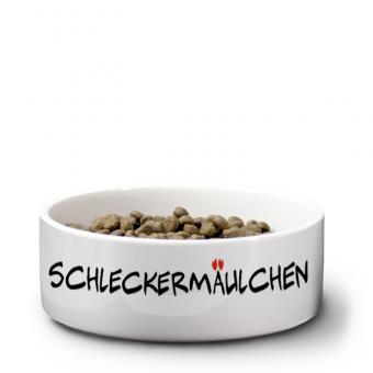 """Katzennapf mit Druck """"Schleckermäulchen"""""""