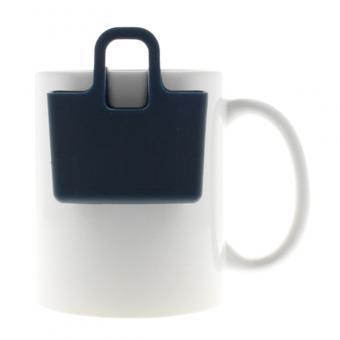 Kekshalter, Teebeutelhalter - verschiedene Farben Deep Velvet Blue