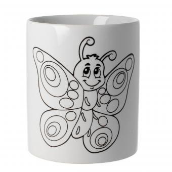 Keramiktasse Motiv Schmetterling