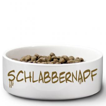 """Hundenapf mit Druck """"Schlabbernapf"""""""