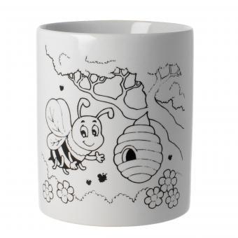 Tasse zum Bemalen Motiv Biene