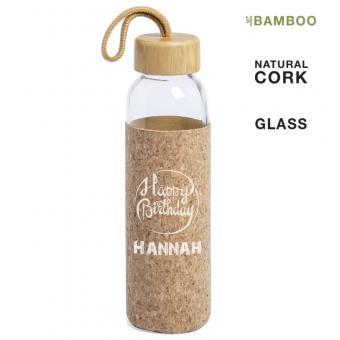 Trinkflasche mit Korkhülle zum überstülpen