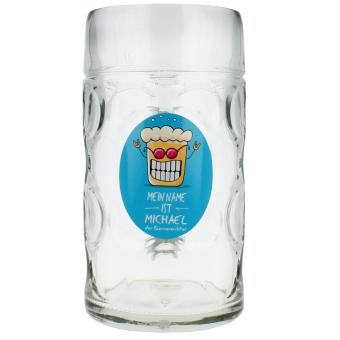Original Maßkrug 1ltr aus Glas