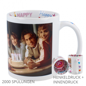 Birthday Tasse mit Henkel u. Innendruck
