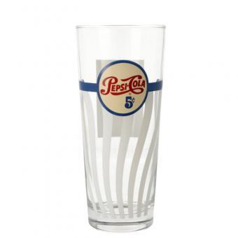 Retro Pepsi Glas, versch. Designs Design No. 1