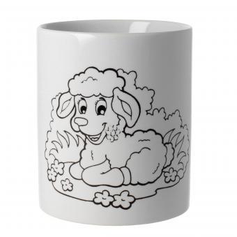 Tasse selbst bemalen Motiv Schaf