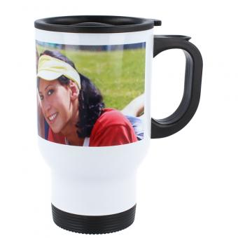 Edelstahl Kaffee-Thermobecher White