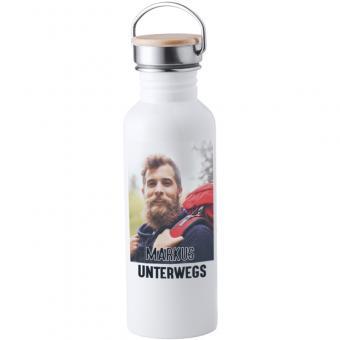 Weisse Trinkflasche aus Edelstahl