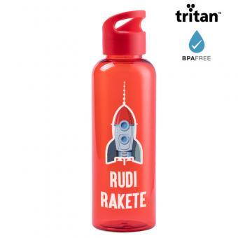 Trinkflasche aus Tritan® in rot