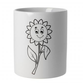 Tasse zum Bemalen Sonnenblume