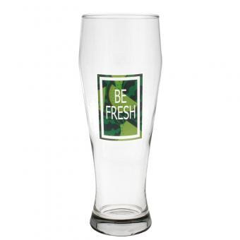 Weizenbierglas 0,5ltr in klar Hochformat