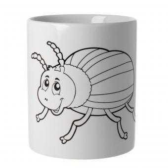 Ausmaltasse Keramik Motiv Käfer