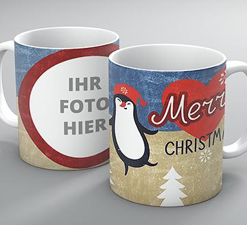 """Weihnachtstasse """"Pinguin"""""""