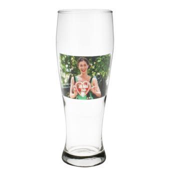 Weizenbierglas 0,5ltr in klar Querformat