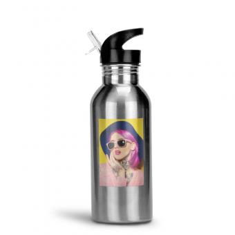 Edelstahl Trinkflasche 500 ml - Silber