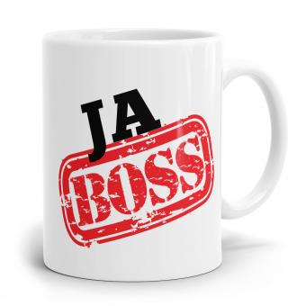 Sprüchetasse - Ja Boss