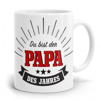 Sprüchetasse - Papa des Jahres