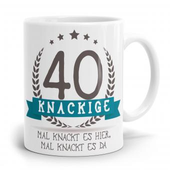 Sprüchetasse - Knackige 40