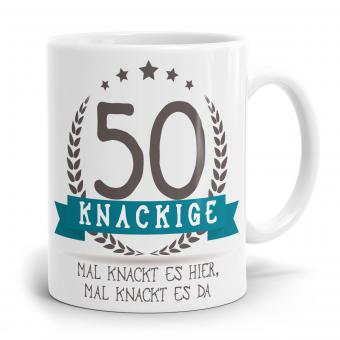 Sprüchetasse - Knackige 50