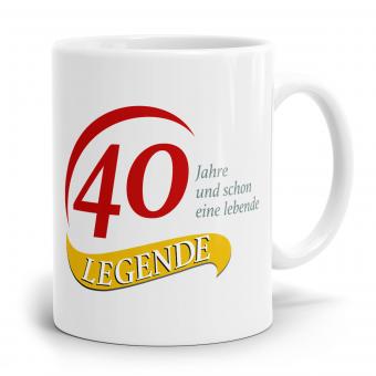 Sprüchetasse - 40  Jahre eine Legende
