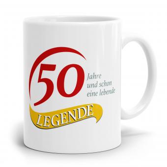 Sprüchetasse - 50  Jahre eine Legende