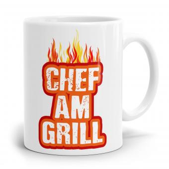 Sprüchetasse - Chef am Grill
