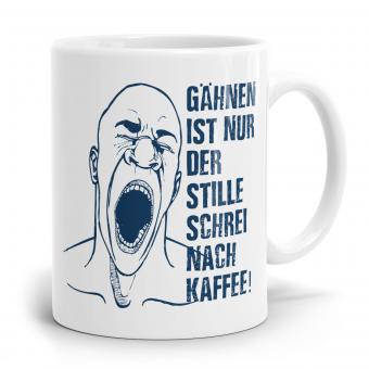Sprüchetasse - Schrei nach Kaffee