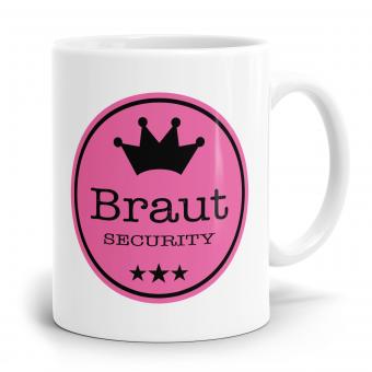 Sprüchetasse - Braut Security