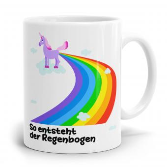 """Einhorn Tasse """"So entsteht der Regenbogen"""""""