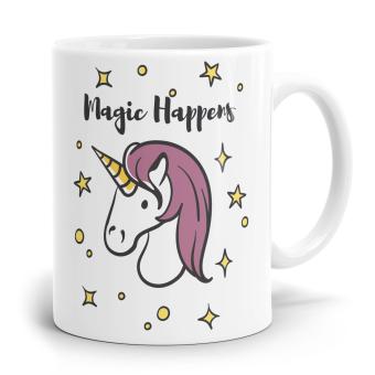 """Einhorn Tasse """"Magic Happens"""""""