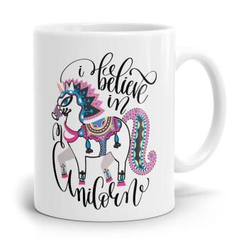 "Einhorn Tasse ""i believe in Unicorn"""