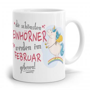 """Einhorn Tasse """"Schönsten Einhörner - Februar"""""""