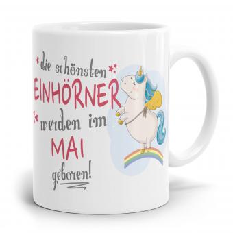 """Einhorn Tasse """"Schönsten Einhörner - Mai"""""""