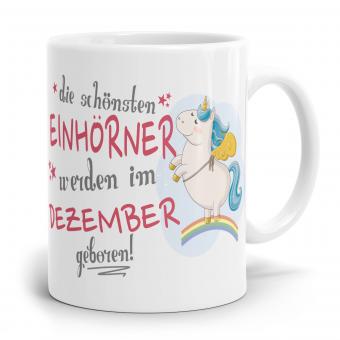 """Einhorn Tasse """"Schönsten Einhörner - Dezember"""""""