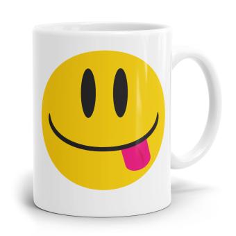 """Emoji Emoticons Tasse """"Zunge raus"""""""