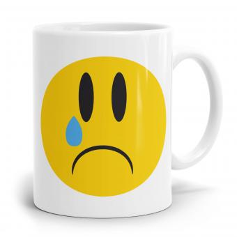 """Emoji Emoticons Tasse """"Weinendes Gesicht"""""""