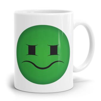 """Emoji Emoticons Tasse """"Angeekeltes Gesicht"""""""