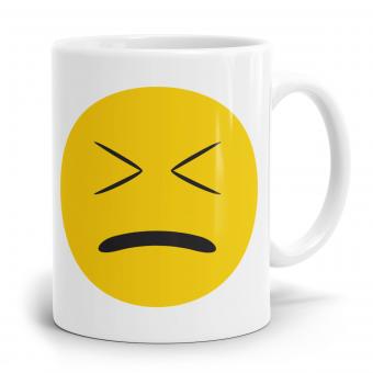 """Emoji Emoticons Tasse """"Bestürztes Gesicht"""""""