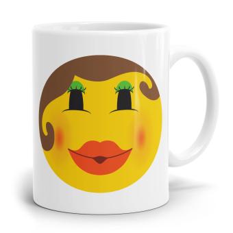 "Emoji Emoticons Tasse ""Kiss Kiss"""